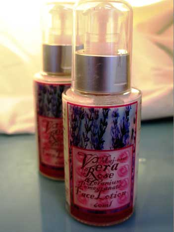 Rose Geranium & Pomegranate Face Lotion – 60mL100mL 1